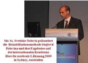 Prvo predstavljanje rehabilitacijske metode Stojčević Polovina na inozemnom kongresu
