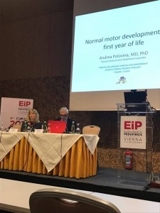 Dr.sc. Andrea Polovina predaje o motoričkom razvoju djeteta na Excellence in pediatrics 2017, Beč